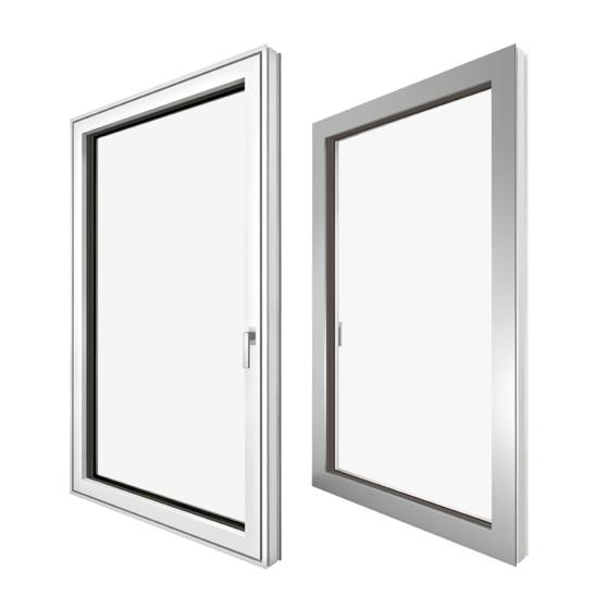 KF 405 műanyag/alumínium ablak