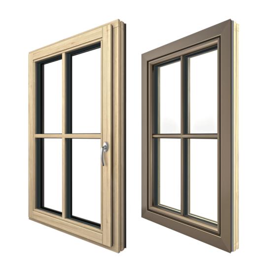 HF 310 fa-alumínium ablak kívülről és belülről