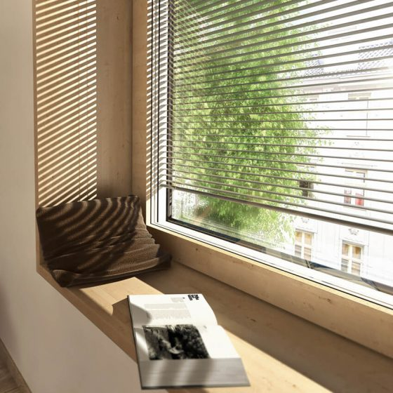 HV 350 fa/alumínium ablak