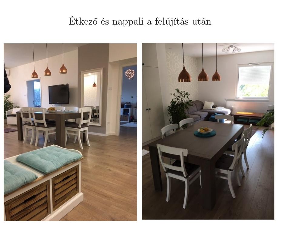étkező és nappali a felújítás után