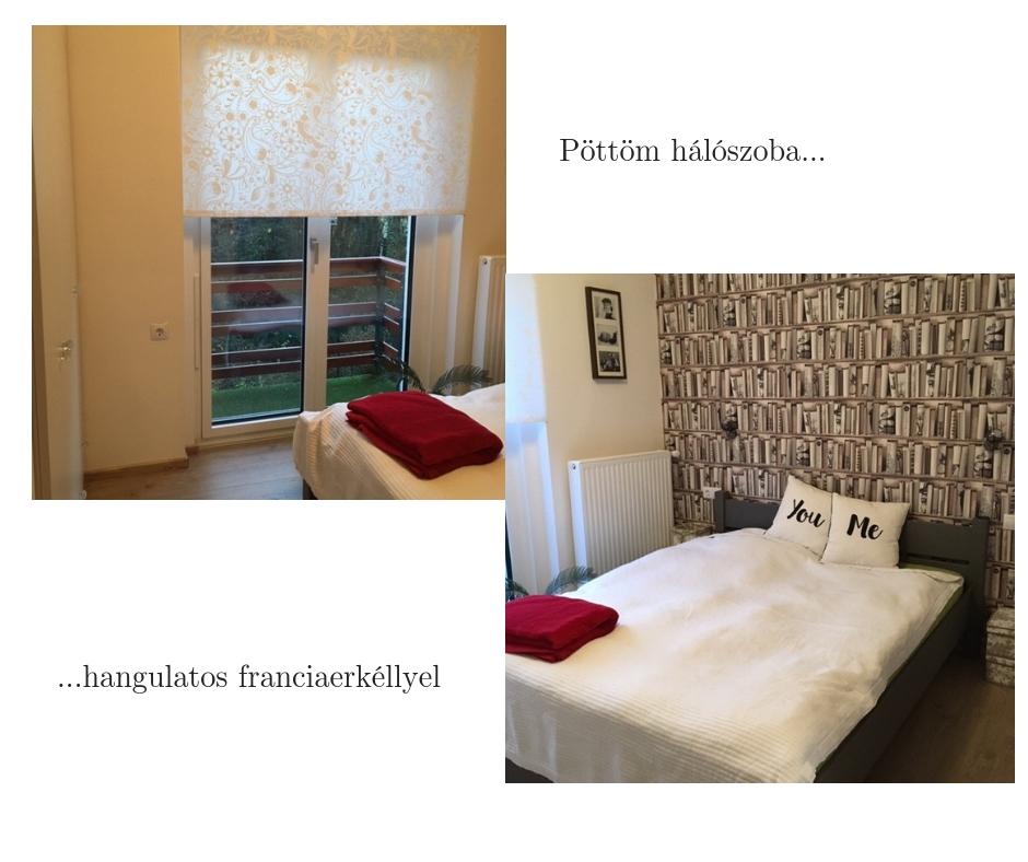 Kis hálószoba elegáns franciaerkéllyel